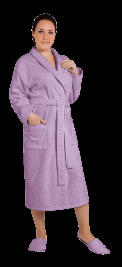 Халат женский махровый цвет лаванда