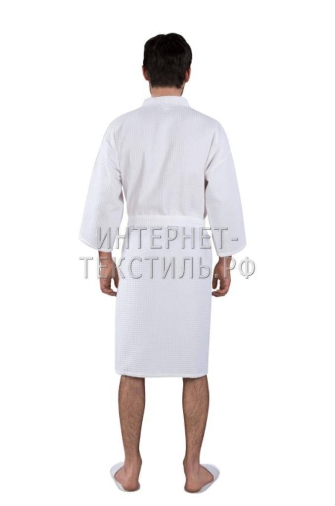 Халат мужской вафельный Люкс белый