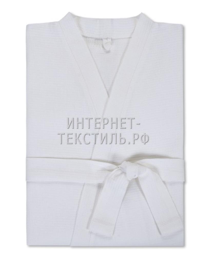 "Халат женский вафельный белый ""Сауна"""