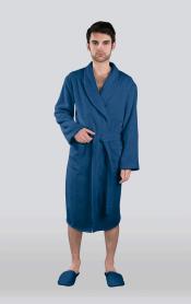 Халат мужской махровый цвет темно-синий