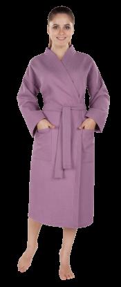 Халат женский вафельный Престиж фиолетовый
