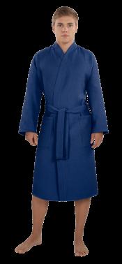 Халат мужской вафельный Престиж темно-синий