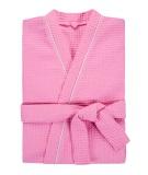 Халат женский вафельный Люкс розовый