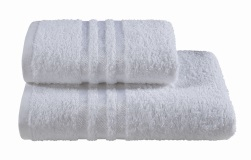 Полотенца махровые г/кр белые жаккард 440 г/м2