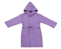 Халат детский вафельный Люкс фиолетовый