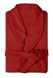 Халат женский махровый красный
