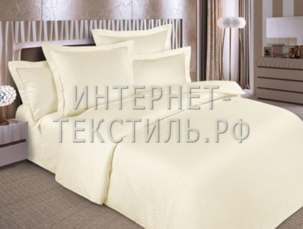 КПБ страйп-сатин шампань 125 г/м2