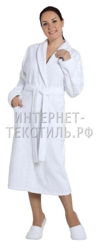 Халат женский махровый белый