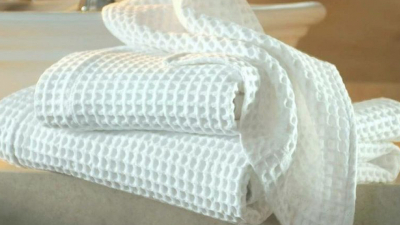 Полотенце вафельное белое Люкс