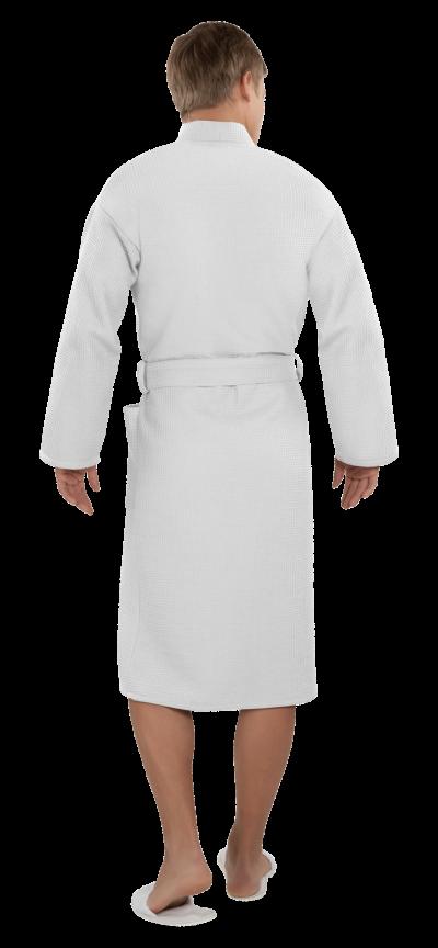 Халат мужской вафельный Престиж белый