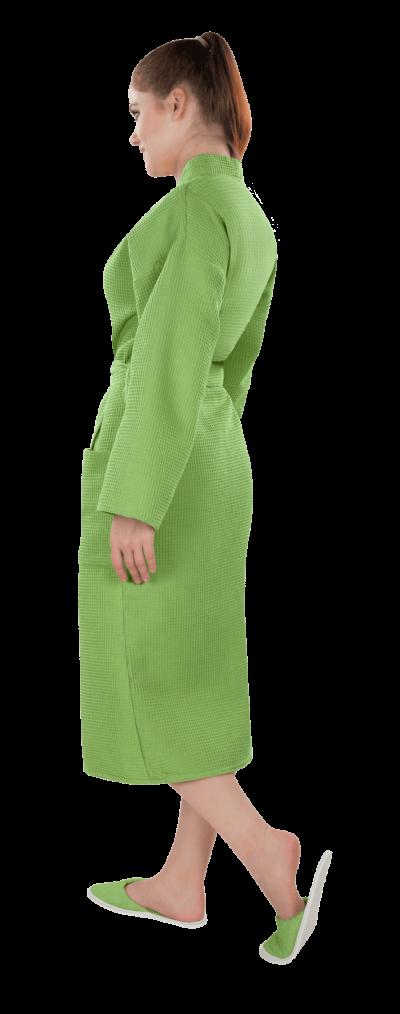 Халат женский вафельный Престиж зеленый