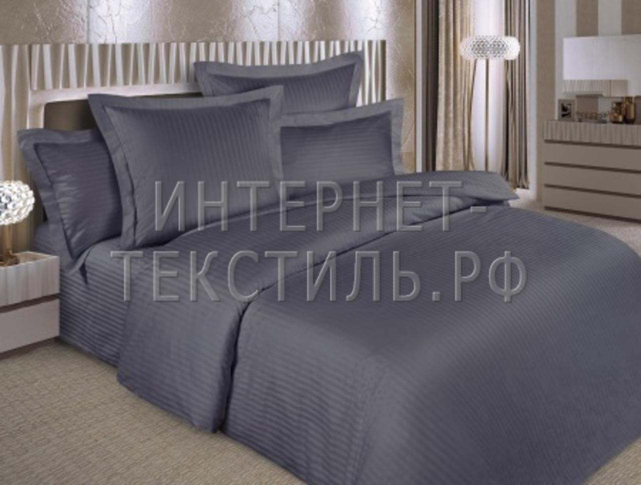 КПБ страйп-сатин графит 125 г/м2