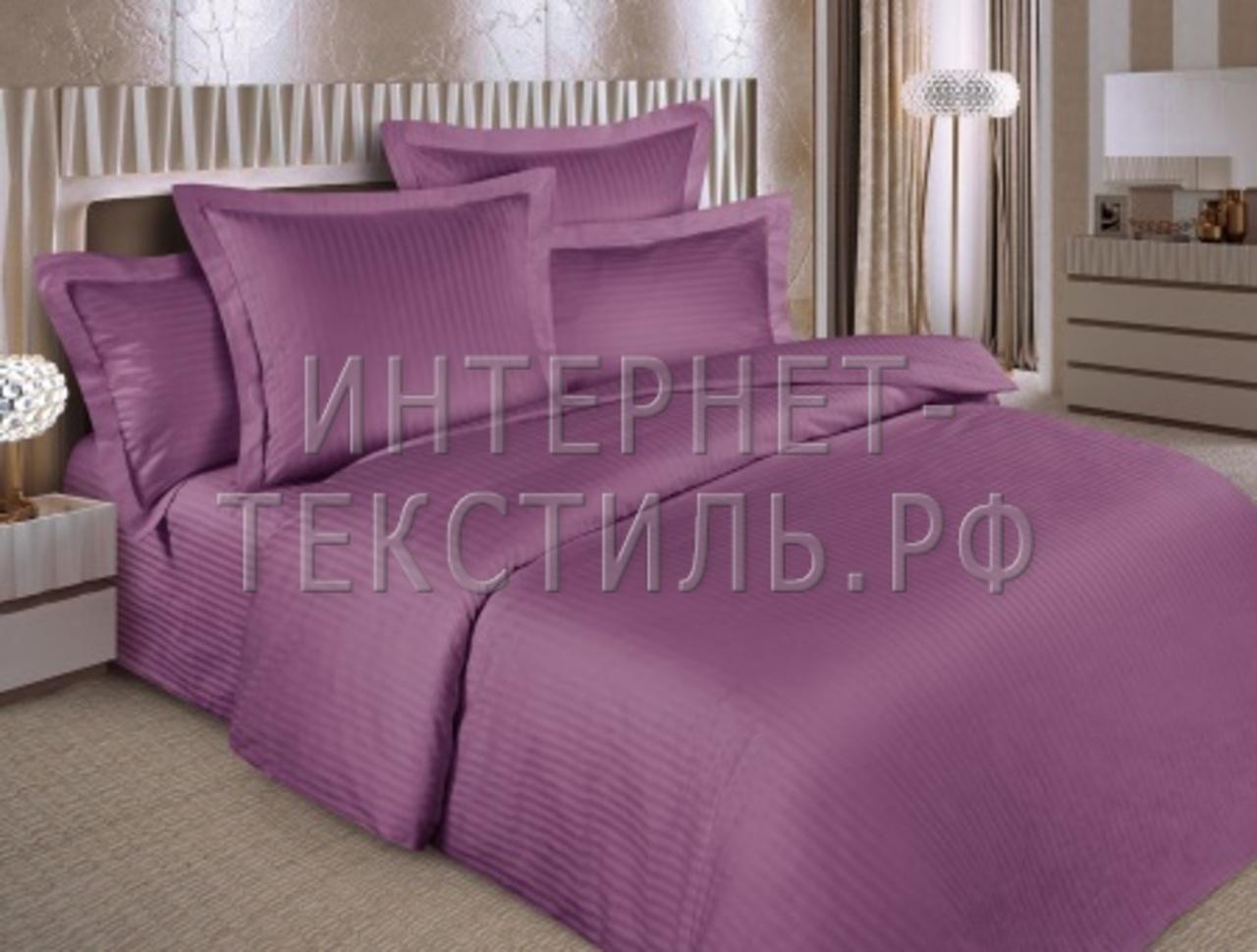 КПБ страйп-сатин черника 125 г/м2