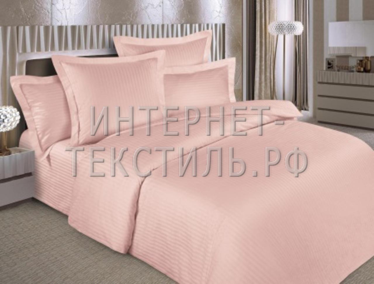 КПБ страйп-сатин персик  125 г/м2