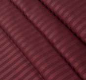 Ткань страйп-сатин вишня