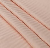 Ткань страйп-сатин персик