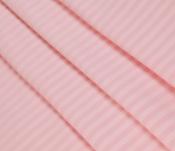 Ткань страйп-сатин розовый