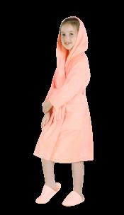 Халат детский махровый персик