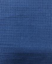 Ткань вафельная темно-синяя