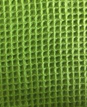 Ткань вафельная зеленая