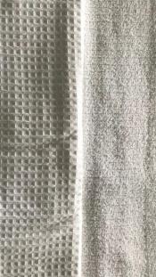 Ткань вафельная махра белая