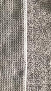 Ткань вафельная махра серая