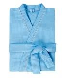 Халат мужской вафельный Люкс голубой (большие размеры)
