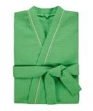 Халат мужской вафельный Люкс зеленый (большие размеры)