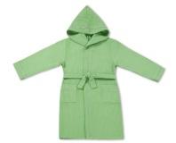 Халат детский вафельный Люкс зеленый