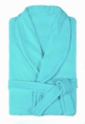 Халат женский махровый бледно-голубой