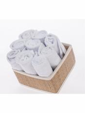 Салфетка махровая белая 30*30 см (10 шт)