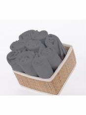 Салфетка махровая серая 30*30 см (10 шт)